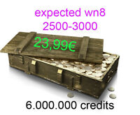 World Of Tanks credits (PC) - 6 milion credits