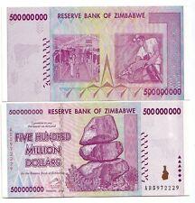 Zimbabwe 500.000.000 dollari 2008     FDS  UNC       pick 82