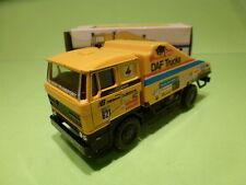 LION CAR DAF 3300 TRUCK - DE ROOY PARIS DAKAR 85 THE BULL - YELLOW 1:50 - VGIB