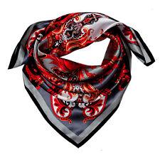89027 Lorenzo Cana Luxus Seidentuch 100% Seide Barock Paisley Hijab 90 x 90 cm