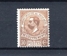 "MONACO STAMP TIMBRE TAXE 10 "" PRINCE ALBERT 1er 30c BISTRE "" NEUF xx LUXE  R617"