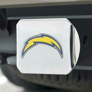 Los Angeles Chargers Hitch Cover Color Emblem on Chrome [NEW] Truck Cap Trailer