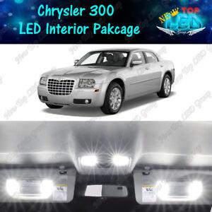 White Interior LED Lights Package Kit For 2005-2008 2009 2010 Chrysler 300 300C