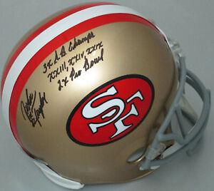 49ers JOHN TAYLOR Signed Riddell Full Size Replica Helmet AUTO W/ Scripts - BCA
