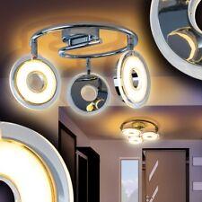 LED Lámpara de techo diseño circular cromo focos ajustables salón pasillo cocina