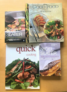 4 Quick cooking books includes Real fast food / puddings by Nigel Slater