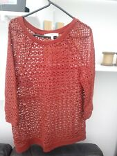 Ladies BNWOT Very Trendy Next Burnt Orange Top Size 12