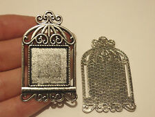 5 photo frame charms pendants tibetan silver blanks jewellery making UK SF55