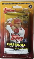 2020 TOPPS SERIES 2 MEIJER PACK FACTORY SEALED 🔥PURPLE PARALLELS