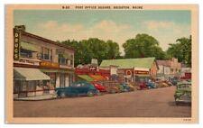 Post Office Square, Main Street, Bridgton, Maine Postcard