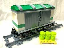 Lego Train City Red Cargo Train Hazard Car Mint 60052/60098/7939/3677