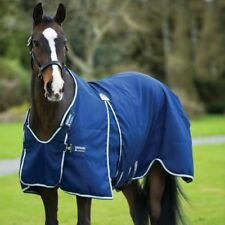 Horseware Rambo Optimo Stable Sheet Summer 0g - Navy with Beige Baby Blue & Navy