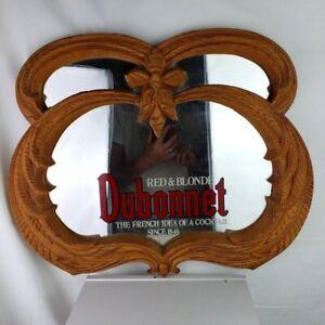 Dubonnet Red & Blonde Bar Framed Mirror
