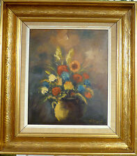 HELMER SCHOU! STILL LIFE COMPOSITION WITH FLOWERS IN VASE. NO RESERVE