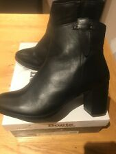BNIB LUNAR SOFT BLACK LEATHER ANKLE BOOTS SIZE 5 EUR 38 NEW IN BOX