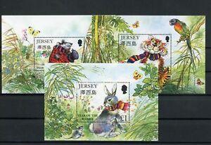 [G27518] Jersey : Fauna - Good Lot of 3 Very Fine MNH Sheets