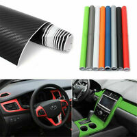 "3D Carbon Fiber Matte Vinyl Film Car Sheet Wrap Roll Sticker Decor 12""x50"" YK"