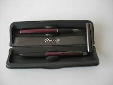 Parker Frontier Bordeaux Metallic Fountain + Pencil
