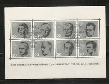 Germany SC # 883-890 Germa Resistance To The Nazis Heroes .Complete Set. MNH
