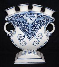 Quimper Earthenware Pottery Vases