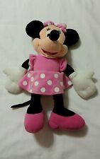 "New listing Minnie Mouse Plush Pink Polka Dot Skirt Plush Toy Stuffed Animal 15"" Tall"