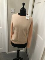 John Lewis Ladies Cashmere Jumper blush Pink Round Neck Size 14