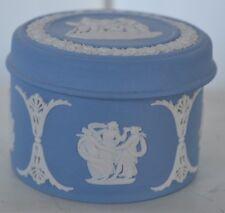 Vintage Wedgewood Blue Trinket Box Jewelry Pegasus Horse