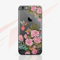 Humming Bird Case For iPhone XR XS Max Pink Roses 8 7 Plus Floral iPod Touch 6