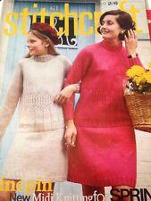 Vintage STITCHCRAFT Magazine March 1969 Knitting Crochet Crafts Pattern Book
