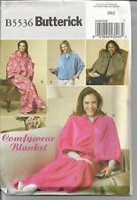 Butterick PATTERN 5536 comfywear aperto-LOUNGE Wraps.