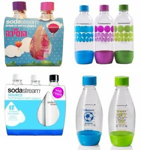 SodaStream Carbonating Bottles 1/0.5 L Litre Expiry 3 years ahead NEW