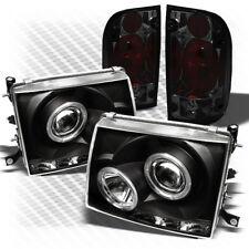 For 97-00 Tacoma Black Halo Pro Headlights + Smoked Altezza Style Tail Lights