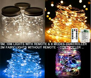LED Fairy Lights Battery Operated & Remote, Indoor Party String Lights 2M 5M 10M
