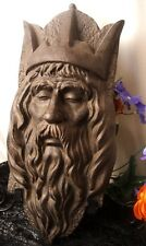 Renaissance Medieval King Monarch Sovereign Head Sculpture Elder Face Wall Mask