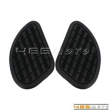 Motorcycle Vintage Classic Tall Gas Tank Knee Pads Side Panels Rubber For Harley