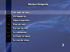 DVD Karaoké Michel Delpech (21 titres home made)