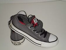CONVERSE ALL STAR DOUBLE UPPER GRAY RED TENNIS SHOES MEN SZ 3 WO SZ 5 COOL