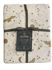 Pottery Barn Teen Harry Potter Enchanted Night Sky Gold Duvet Full Queen