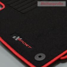 Alfombrillas profesionales gamuza logotipo tapices para seat ibiza 6j a partir de año 06/2008 - 2017 rojo