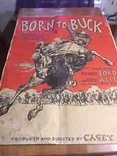 born to buck movie poster