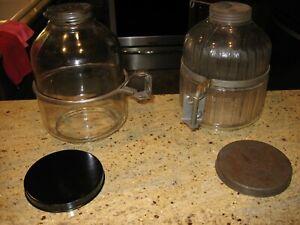 Choice of Hoosier Napanee, Sellers, McDougal swing out sugar jars with bracket