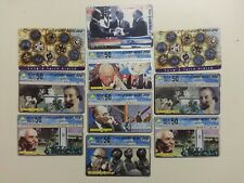 PHONECARDS USED ISRAEL PRIME MINISTERS/PEACE PROCESS RARE