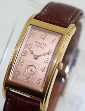 Men's Vintage Gruen Curvex 10 Micron Gold Plated Ref 271-980.163 Quartz Watch
