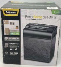 New Listingnew Fellowes Powershred Shredmate Cross Cut Paper Shredder 4 Sheets Black