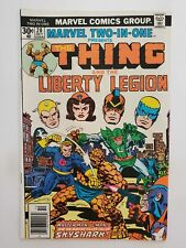 MARVEL TWO-IN-ONE #20 (VG/F) 1976 THING & the LIBERTY LEGION TEAM-UP! BRONZE AGE