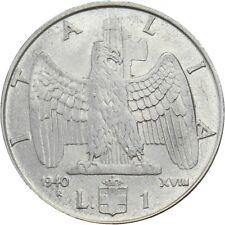 Italia Italy 1 Lira 1940 XVIII KM#77a Vittorio Emanuele III (it-15) non-magnetic