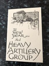 WW1 No.1 Heavy Artillery Group, Happy Xmas & New Year Card In The Field 1915-16
