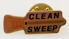 McDonald's Clean Sweep Pin Employee Broom Crew Reward swag Arches