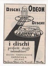 Pubblicità vintage DISCO DISCHI ODEON MILANO advert reklame werbung publicitè