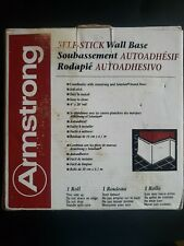 """NEW IN BOX ARMSTRONG BLACK Self Stick Wall Base 4"""" High & 20"""" Long 14764-080"""